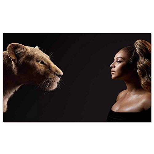 cowspring Large Posters Beyonce as nala The Lion King 2019 5k Man Cave Wall Art Collection Gift Ideas 35x 24 inches
