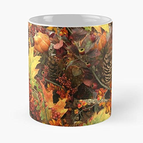 Autumn Gravityx9 Fall Leaves Pine Cones - Coffee Mug And Tea Cup Gift 11 Oz Best Mugs For Choose