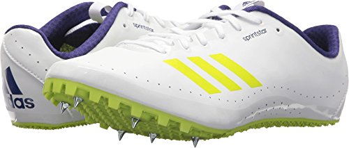 adidas Running Women's Sprintstar Footwear White/Ash Grey/Real Purple 5 B US