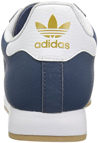 Adidas Originals Mens Samoa Retro Sneaker Tech Bläck Vit / Blå Fågel