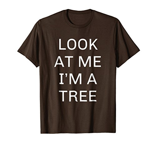 Mens I'm a Tree Halloween Shirt Funny Costume Large Brown