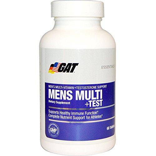 GAT Men's Multi + Test, Premium Multivitamin and Complete Testosterone Boosting Support with Tribulus Terristis