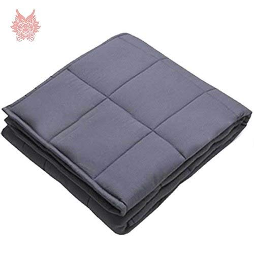 Viet-NA Blankets - White Grey Plaid Weighted Blanket for Anxiety ADHD Autism...