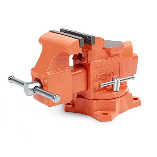 Bench Vise Light - Pony 29040 4-Inch Heavy-Duty Workshop Bench Vise with Swivel Base