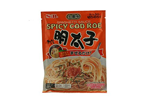 S&B Spaghetti Sauce, Spicy Cod Roe, Mentaiko, 1.85 oz