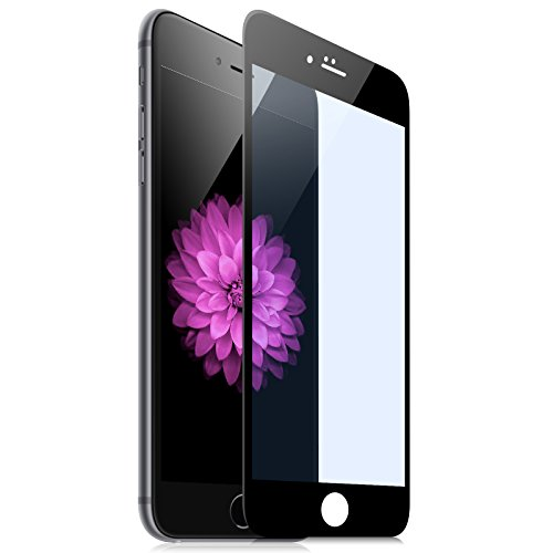 Hoco for Iphone6s Tempered Glass Pinhen Full Coverage Screen Protector Hd Clear Transparency with Rounded Edges for Iphone6s 6s Plus (6Plus Anti-Blue Black)