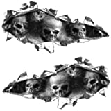 Weston Signs Ripped/Torn Metal Look Decals with Gray Skulls