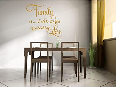 Family is a little world created by love Vinyl Wall Decal