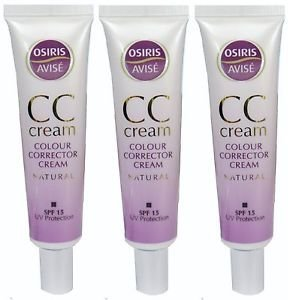 Multi Pack Offer 3 X Osiris CC Cream Natural with SPF15 - 35ml Each xpel marketing