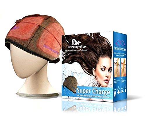 - Hair Therapy Wrap Cordless Thermal Heat Wrap, Coco Color