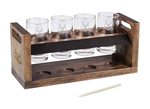 (NBA Milwaukee Bucks Craft Beer Four-Glass Tasting Set )