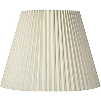 Ivory Pleated Shade 11x19x14 5 Spider Brentwood