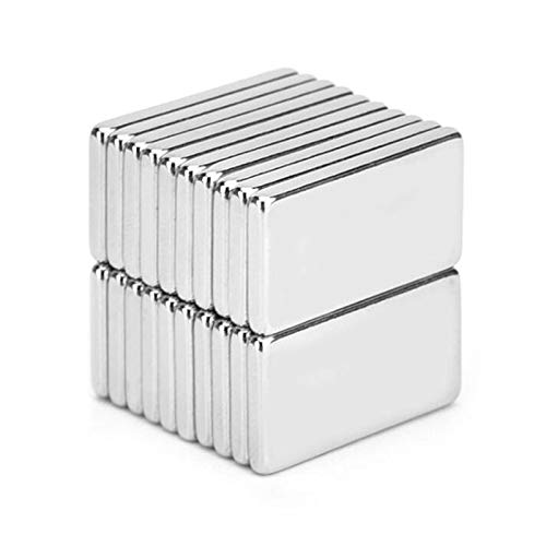 (LTKJ 30 Pieces 20x10x2mm Rectangular Magnets Multi-Used for Whiteboard, DIY Projects, Office Magnets)