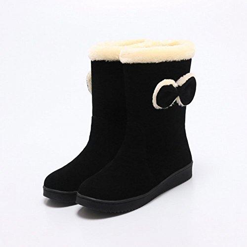 Kerststokken Kerststokken Casual Warm Comfort Shearling Snowboots Zwart