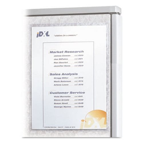 (Cubicle Keepers, Velcro-Backed Display Holders, 8 1/2 x 11, Clear, 2/Pack, Sold as 2 Each)