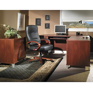 Somerset L-Desk with Lateral File