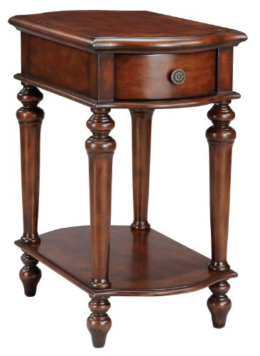 Stein World 75722 One Chair Side Table with One Drawer and One Shelf in a Dark Teak Finish, 24 by 16 by 29.5-Inch (Traditional Table Stein World)