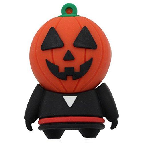 Genluna Halloween Shop USB Flash Drive Pumpkin Head Costumes Monster Halloween Gift 4GB (Flash Drive Halloween Costume)