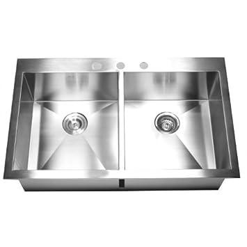 36 u0026quot  x 22 u0026quot  double bowl kitchen sink 36   x 22   double bowl kitchen sink     amazon com  rh   amazon com