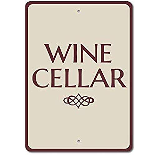 NDTS Metal Deco Sign 12x16 inches Wine Cellar Sign Wine Cellar Decor Wine Cellar Gift Wine Lover Gift Wino Sign Wino Gift Wine Room Sign Quality Aluminum Metal Sign