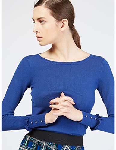 shirt Motivi Femme Pour Sweat Turquoise XZR1q