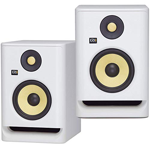"(2) KRK ROKIT RP7 G4 7"" Bi-Amped Studio Monitor DSP Speakers White Noise Edition"