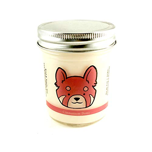 7 oz Red Panda Conservation Candle - Cinnamon Buns Scent | Wildlife Conservation All-Natural Vegan Soy Candle