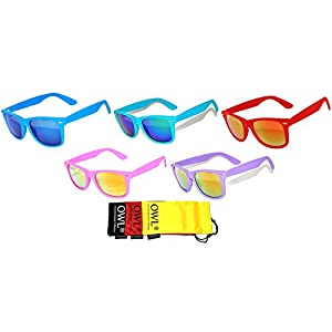 Mirror Colorful Lens Vintage Sunglasses 5 Pairs for Every Day