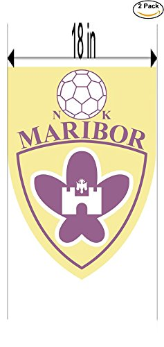 fan products of Maribor Slovenia Soccer Football Club FC 2 Stickers Car Bumper Window Sticker Decal Huge 18 inches