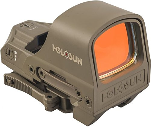 Holosun HS510C 1x Open Reflex Sight, Red Dual Reticle, Flat Dark Earth, (Red Dot Flat)