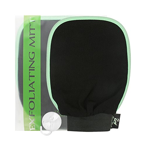 SwanMyst Hammam Exfoliating Mitt Bath Glove for Body Scrub and with 1 Gift Suction Cup Hook