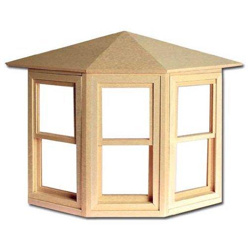 Dollhouse Miniature Working Bay Window