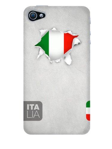Ideus banderas-italia Schutzhülle aus Gummi für Apple iPhone 4und Apple iPhone 4S
