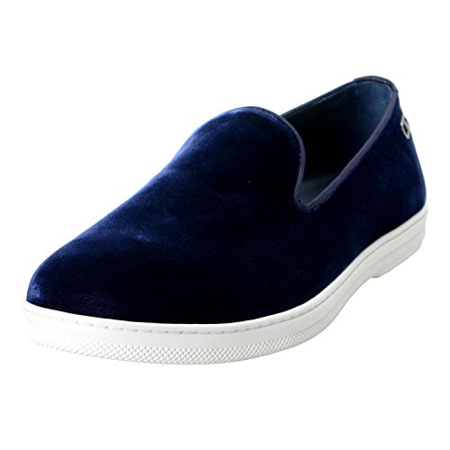 On US Shoes 11 IT Salvatore Velour 44 Casual Leblanc Loafers 5EE Blue 5EE 10 Mens Ferragamo Slip EU 5EE xARqpw0