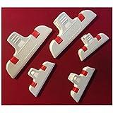 Tütenklammern Verschlußclips Frischhalteclips als 5er -SET 2x Groß + 3 Klein