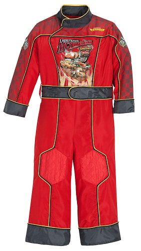 Disney Store Cars Lightning McQueen Costume Light Up Racing Suit