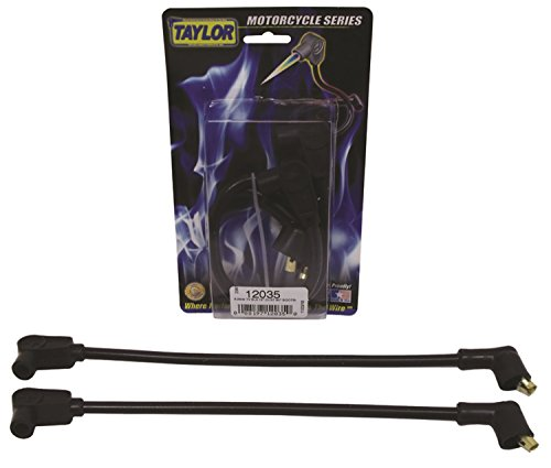Taylor Cable 12035 ThunderVolt 8.2mm Motorcycle Ignition Wire Set Custom Fit Black 90 deg. Boots 8.2mm For Use w/Center Mount Coil ThunderVolt 8.2mm Motorcycle Ignition Wire Set