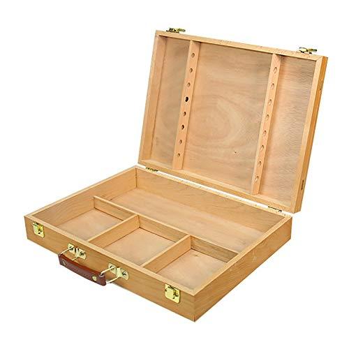 ポータブルイーゼル木製絵画棚多機能ペイントボックスアクティビティディスプレイラック