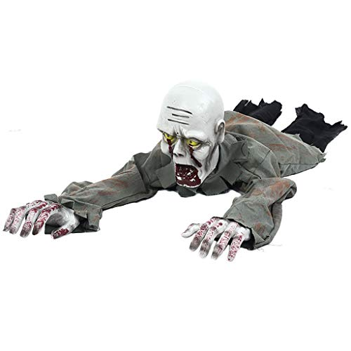 Ground Breaker Zombie Animated Prop - Yuxiale Halloween Crawling Prop Creeping Bloody