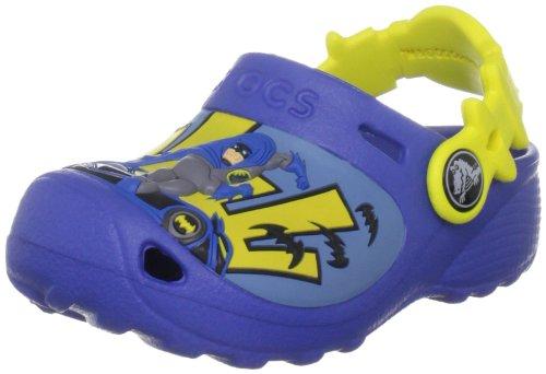Crocs Caped Crusader Clog (Toddler/Little Kid),Sea Blue,4-5 M US Toddler - Crusader Foot