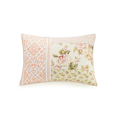 Mary Jane's Home Sweet Blooms SHAM, Standard, Pink (Bloom Pillow Sham)
