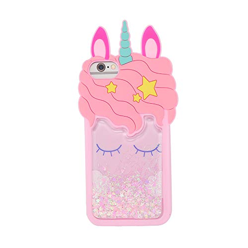 Quicksand Unicorn iPod Touch 7(2019)/Touch 5/Touch 6 Case,Awin 3D Cute Unicorn Dynamic Liquid Bling Glitter Soft Silicone Rubber Case for iPod Touch 5/Touch 6/iPod Touch 7(2019)(Quicksand Unicorn) (Cases Girls Ipod 5 For Apple)