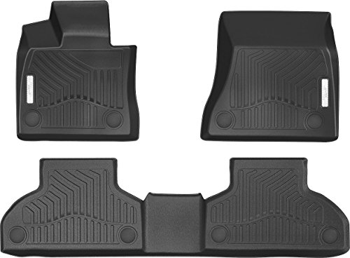 3D Complete Set Custom Fit All-Weather Floor Liners Floor Mats For Select 2014-2017 BMW X5/2015-2018 BMW X6 Front and Back Car