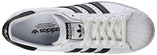 adidas Womens Superstar 80s W HK, Ftwwht/Cblack/Ftwwht Ftwwht/Cblack/Ftwwht