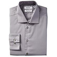 Calvin Klein Steel Men's Long Sleeve Slim Fit Non-Iron Shirt