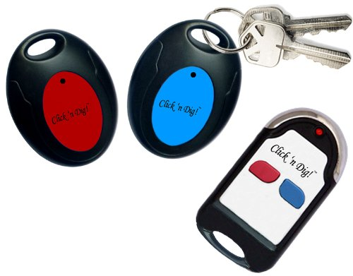 Click 'n Dig! Key Finder. 2 Receivers. Wireless RF Item Locator Remote Control, Pet, Wallet, Keyfinder. (Free Extra (Remote Control Key Finder)