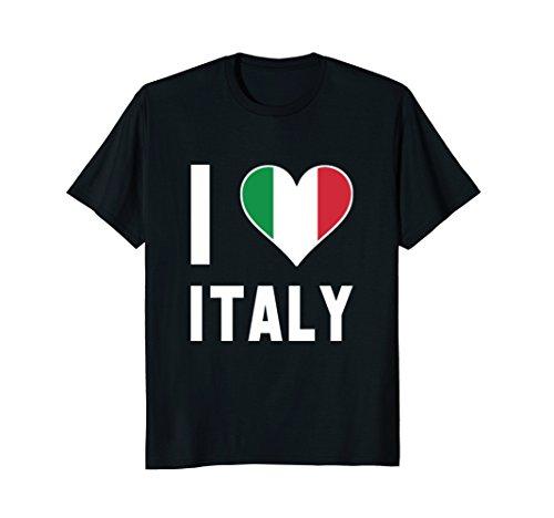 I'm Italian I Love Italy Heart Flag Funny Gift T-shirt - Italy Heart