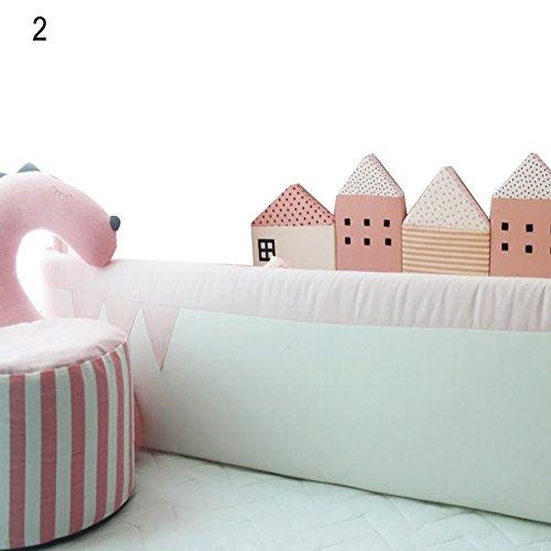 Corazón altavoz Kids Home bebé seguridad de pared barra de protección alfombrilla de dormir niños cama cuna valla,...