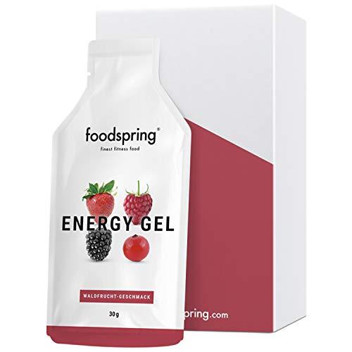 foodspring Energy Gel, Waldfrucht, 12er Paket (12x30g), Natürliche Energie mit einem Griff