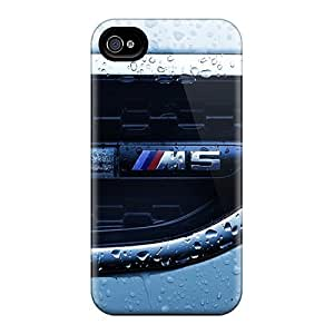 GqF1187DxKr Faddish Closeup Cars Water Drops Bmw M5 Case Cover For Iphone 4/4s